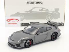 Porsche 911 (991 II) GT3 Baujahr 2017 achatgrau metallic 1:18 Minichamps