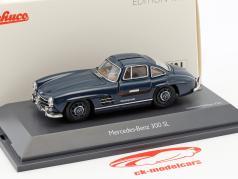 Mercedes-Benz 300 SL coupe blu 1:43 Schuco