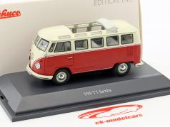 Volkswagen VW T1 Samba bus rouge / beige 1:43 Schuco
