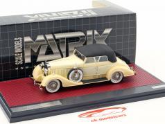 Hispano Suiza H6C Convertible Sedan Closed Top Hibbard & Darrin Baujahr 1928 creme weiß 1:43 Matrix