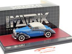 Voisin C30 Goelette Cabriolet Dubos Closed Top Baujahr 1938 blau / schwarz 1:43 Matrix