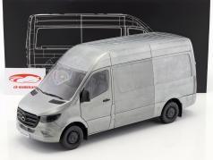 Mercedes-Benz sprinter van année de construction 2018 robuste édition argent / gris 1:18 Norev