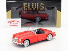 MG A 1600 Roadster MKI ano de construção 1959 Elvis Presley filme Blue Hawaii (1961) vermelho 1:18 Greenlight