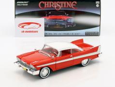 Plymouth Fury year 1958 Movie Christine (1983) red / white / silver 1:24 Greenlight