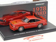 Ford Mustang II King Cobra ano de construção 1978 vermelho 1:43 Greenlight
