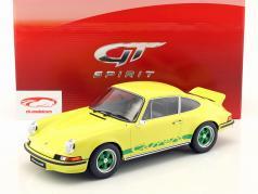 Porsche 911 2.7 RS Carrera Opførselsår 1973 gul / grøn 1:12 GT-Spirit