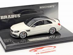 Brabus 600 based on Mercedes-Benz AMG C 63 S year 2015 white 1:43 Minichamps