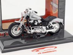 Harley-Davidson FXDFSE CVO Fat Bob anno di costruzione 2009 argento / nero 1:18 Maisto