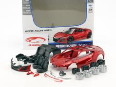 Acura NSX year 2018 Assembly Line Kit red 1:24 Maisto