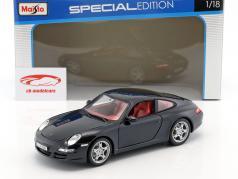 Porsche 911 (997) Carrera S azul oscuro 1:18 Maisto