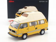 Volkswagen VW T3 Joker kampeerder met hoog dak geel 1:18 Schuco