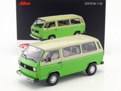 Volkswagen VW T3 バス 築 1979-82 グリーン / ベージュ 1:18 Schuco