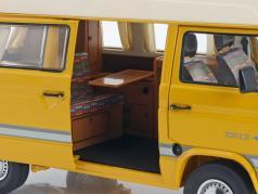Volkswagen VW T3 Joker campeur avec toit élevé jaune 1:18 Schuco