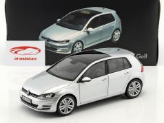 Volkswagen VW Golf VII Opførselsår 2013 refleks sølv 1:18 Norev