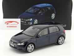 Volkswagen VW Golf VII Opførselsår 2013 nat blå 1:18 Norev