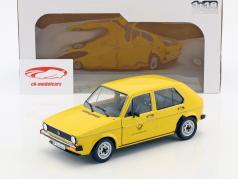Volkswagen VW Golf 1 alemán Oficina de correos federal Año de construcción 1974 amarillo 1:18 Solido