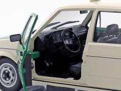 Volkswagen VW Golf 1 police year 1974 green / white 1:18 Solido