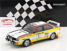 Audi Quattro A2 #3 vincitore Rallye neozelandese 1984 Blomqvist, Cederberg 1:18 Minichamps