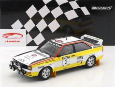 Audi Quattro A2 #3 Winner Rallye Neuseeland 1984 Blomqvist, Cederberg 1:18 Minichamps