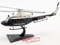 Agusta AB412 helicóptero ano de construção 1984 azul escuro / branco 1:72 Altaya