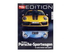 revista auto motor und sport Edition: 70 años coches deportivos Porsche