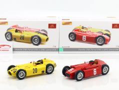 2-Car Set: A. Ascari Lancia D50 #6 Turijn GP 1955 & A. Pilette Ferrari D50 België GP 1956 1:18 CMC