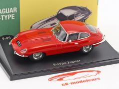 Jaguar E-Type rosso 1:43 Atlas