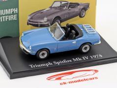 Triumph Spitfire Mk IV année de construction 1974 bleu clair 1:43 Atlas