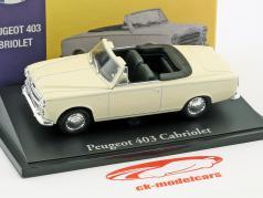 Peugeot 403 cabriolet crema bianco 1:43 Atlas