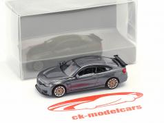 BMW M4 GTS year 2016 gray metallic with orange rims 1:87 Minichamps