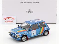 Renault Super Cinq GT Turbo #4 3 Rallye de cote Ivoire 1990 Oreille, Roissard 1:18 Norev