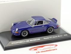 Porsche 911 Carrera RS 2.7 Baujahr 1973 seeblau 1:43 Welly