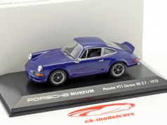 Porsche 911 Carrera RS 2.7 year 1973 sea blue 1:43 Welly