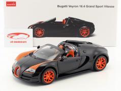 Bugatti Veyron 16.4 Grand Sport Vitesse black / orange 1:18 Rastar