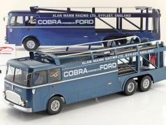 Fiat Bartoletti 306/2 Shelby Cobra Racing transporter Alan Mann Racing Ltd 1:18 Norev