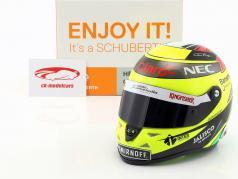 Sergio Perez Force India VJM09 Formel 1 2016 Helm 1:2 Schuberth