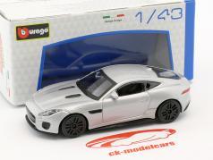 Jaguar F-Type R sølv metallisk 1:43 Bburago