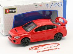 Subaru WRX STI ano de construção 2017 vermelho 1:43 Bburago