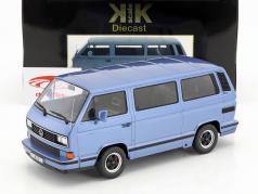 Porsche B32 gebaseerde op Volkswagen VW T3 bus Bouwjaar 1984 lichtblauw metalen 1:18 KK-Scale