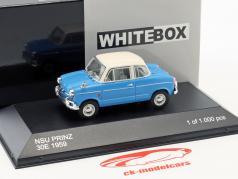NSU Prinz 30E año de construcción 1959 azul / blanco 1:43 WhiteBox