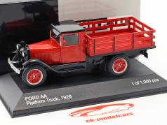 Ford AA Platform Truck Opførselsår 1928 rød 1:43 WhiteBox