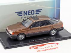 Ford Scorpio Ghia Mk1 anno di costruzione 1986 marrone metallico 1:43 Neo