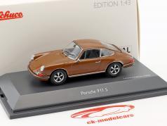 Porsche 911 S marrom 1:43 Schuco