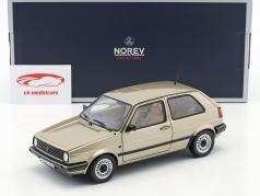 Volkswagen VW Golf II CL ano de construção 1988 bege metálico 1:18 Norev