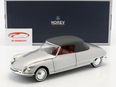 Citroen DS 19 cabriolet anno di costruzione 1961 grigio perla metallico 1:18 Norev
