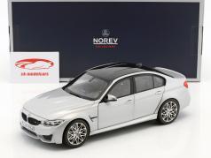 BMW M3 Competition Bouwjaar 2017 zilver metalen 1:18 Norev