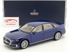 Audi A8 L year 2017 blue metallic 1:18 Norev