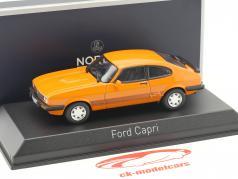 Ford Capri III année de construction 1980 orange 1:43 Norev