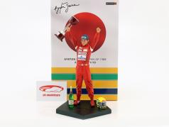 Ayrton Senna figura vencedor Japão GP campeão do mundo fórmula 1 1988 1:10 Iron Studios