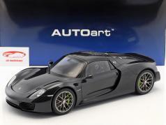 Porsche 918 Spyder Weissach Package Baujahr 2013 schwarz metallic 1:12 AUTOart